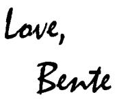 love, bente